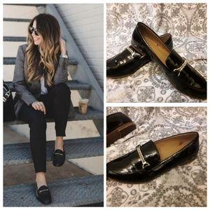 Franco Sarto patent loafers
